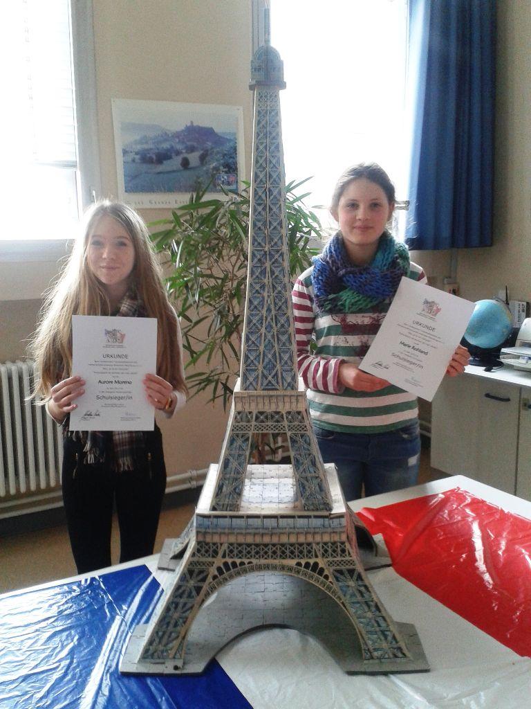 Stadtsieger im Französisch Vorlesewettbewerb