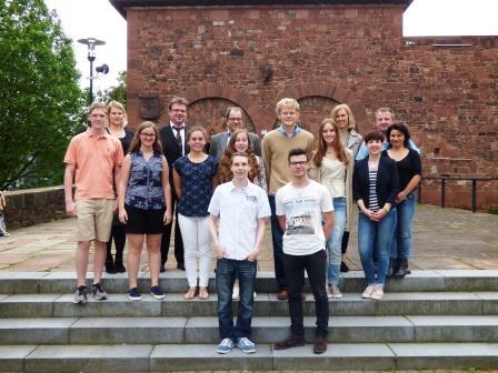Empfang für amerikanische Austausch-Schüler im Rathaus