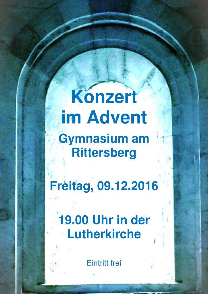 Konzert im Advent am 9.12.2016