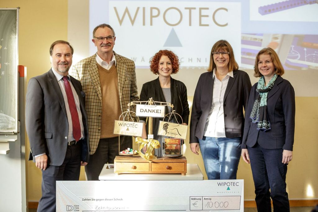 Wipotec Spendeübergabe am Rittersberg 2016
