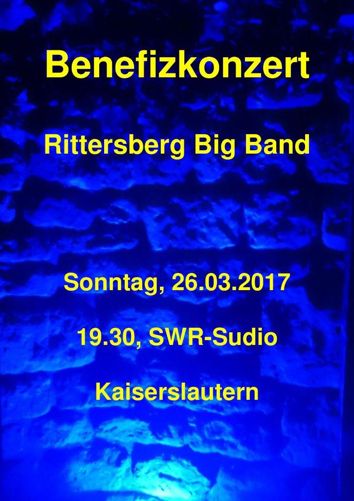 Benefizkonzert der Rittersberg Big Band im SWR-Studio Kaiserslautern