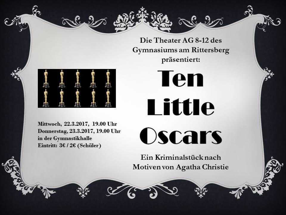 """""""Ten Little Oscars"""" – Aufführung der Theater AG 8-12"""