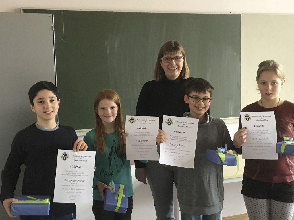 Rittersberger bei der dritten Runde der Mathematikolympiade erfolgreich