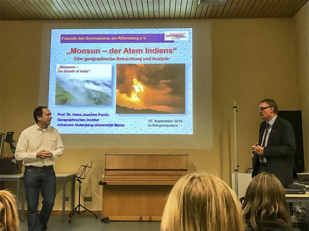 """""""Monsun – der Atem Indiens"""": Faszinierender Vortrag von Prof. Dr. Fuchs"""